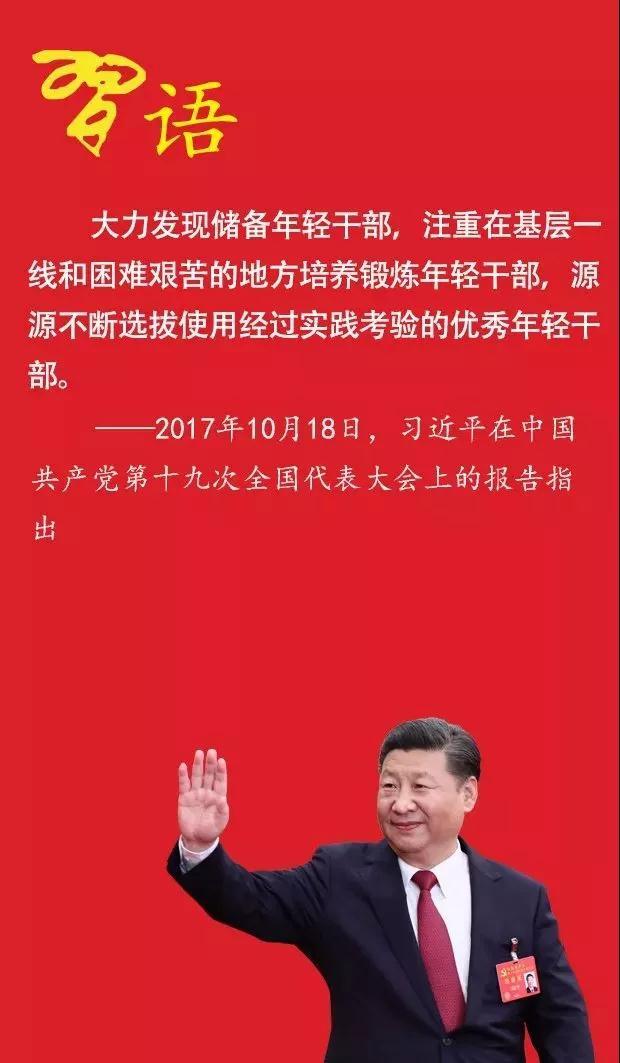 实现中华民族伟大复兴中国梦,需要一批又一批高素质的年轻干部.